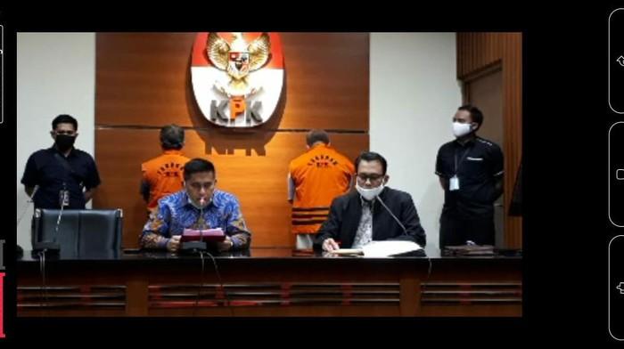 Foto: Screenshot live penetapan tersangka KPK