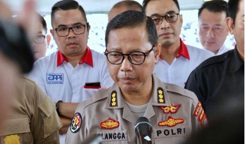 Kabid Bidang Humas Polda Jawa Barat, Kombes Pol Saptono Erlangga (ANTARA FOTO/Bagus Rizaldi)