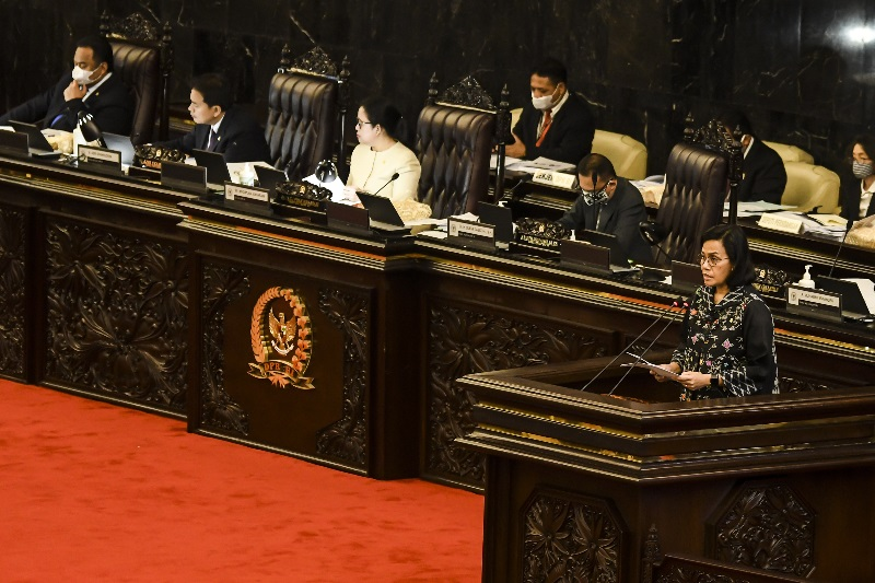 Rapat Paripurna DPR-RI di Gedung DPR, Jakarta pada Selasa, (12/5). (FOTO; Alinea.id)