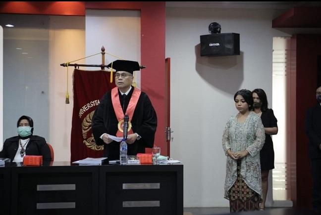 Pidato dari Prof Hikmahanto Juwana, S.H., LLM., PhD selaku Promotor Genio Ladyn Finansisca