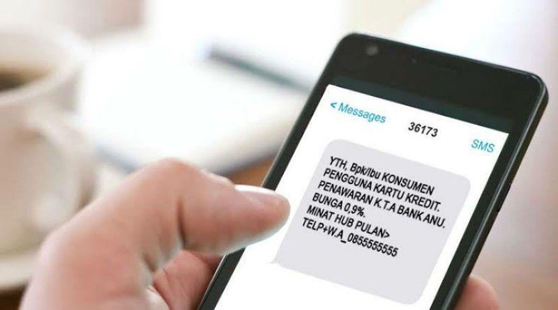 Ilustrasi SMS spam./mediakonsumen.com.